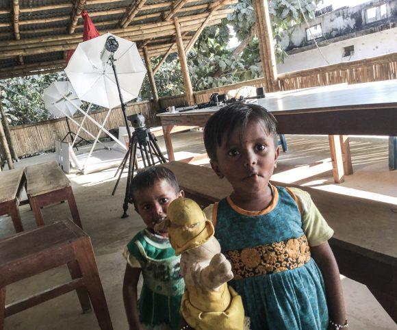 Studio at the terrace of the new teachers flats - bulding in Sunderpur